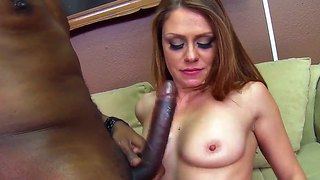Scarlett wild's ass is pounded by black prick