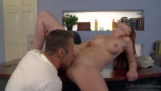 Redhead marie mccray gets her neat pussy stuffed