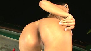 Stunning ebony goddess katt dylan ass worshiped