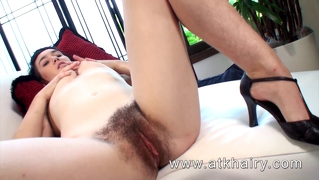 Barb from atkhairy shows you her juicy hairy pussy