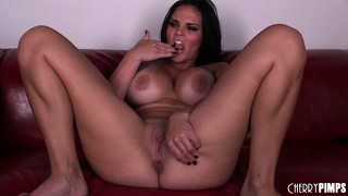Mackenzee pierce is still horny after he fucks her so she masturbates to an orgasmic finish