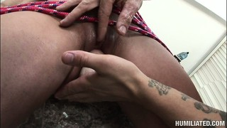 Nikki has a big dildo stretching her tight pussy before she gets fucked deep