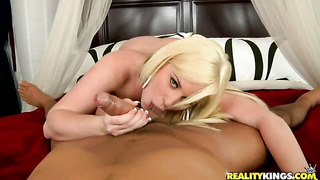 Voodoo fucks glamorous topanga foxs pretty face with his love wand