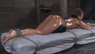 Oiled and fucked to tears