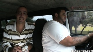 They're driving around to find some bitch they can pick up to fuck