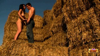 Erika and karol go for a hayride, trade head and bang some pussy