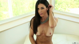 Horny brunette milf opens wide to deep-throat a cock pov style