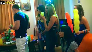 Boys and girls bring their fantasies to real life during noisy drunken party