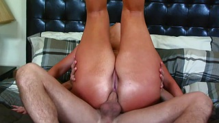Big peach is nailed and banged in all holes