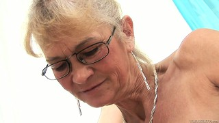 Dirty lesbian grandmother seeks the way for satisfying that vagina