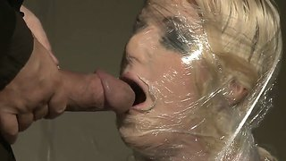 Blonde babe anita blue gets tied and dominated by a wicked dude with a massive cock
