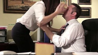 India summer is a nurse in a sperm bank. her report makes her boss crazy and he seduces her right in the office