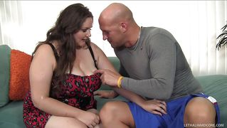 Bbw grabbed by the hair and mouth fucked