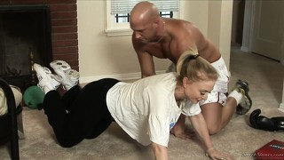 Mom gets some training and then goes for the trainer to fuck him