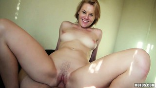 The sexy blonde rides that cock with excitement reaching the pleasure she seeks