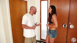 Milf india summer sucks on a big cock
