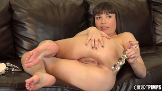 Dana dearmond loves it when both of her holes are filled at once
