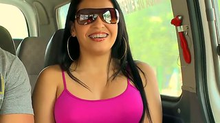 Lola in the brand new episode of the bangbus, enjoy her hot look!