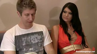 Cassandra nix gets gangbanged at a college party