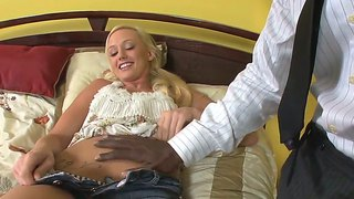 Wesley pipes gets pleasure from fucking completely cute molly rae's mouth