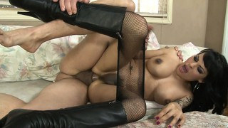 Insufferable tranny with insatiable nature can't believe this dick entered her ass