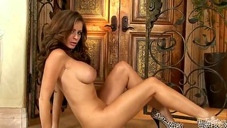 Astonishing emily addison with stunning hooters and round buns takes a hot shower.