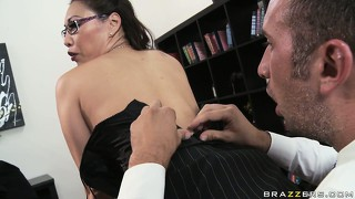 The stacked asian babe has an original and sexy way of interviewing potential candidates