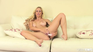Cherie deville gets down and dirty toying her juicy pussy palace