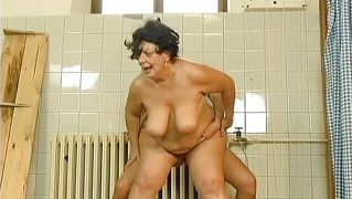 Mature slut gets a hard fuck from a young cock