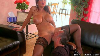 Experienced sex therapist lisa ann is a super hot woman with huge boobs. slutty lady spreads for lucky patient. keiran lee eats and fucks her smooth mature pussy just like crazy and can't get enough