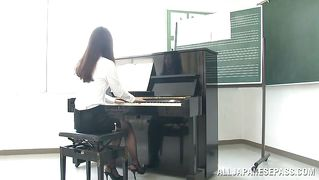 Piano teacher is exploited by her students