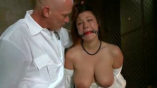 Sweet brunette with big natural boobs dana vixen gets mark's dick in her pussy and ass