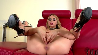 Talented whore aleska diamond plays with huge toy