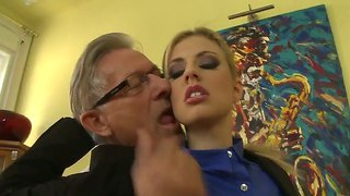 Jessie volt asks christoph clark to stick his beefy love stick in her mouth before asshole fucking