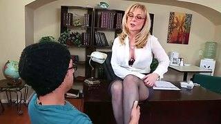 Nina hartley is good at fucking and her hard cocked bang buddy xander corvus knows it