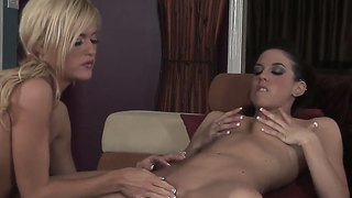 Two sexy girls mackenzie miles and tiffany sweet plays with each other's pussies