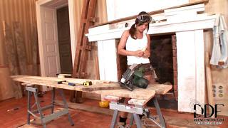 Pussy rubbing with a hammer