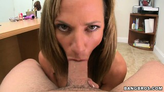 Splendid milf with the wonderful body does great pov cock-sucking and fucking