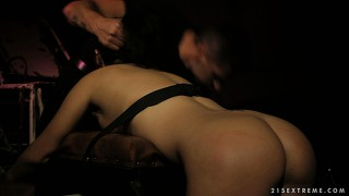 That dirty whore wants to be dominated by the dirty, throbbing member