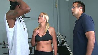 Hot mom nicki hunter deep throats black guy - cuckold