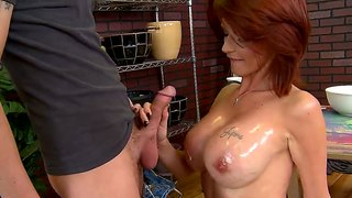 Red head seller joslyn james made this pottery store very popular with her big boobs and wet holes