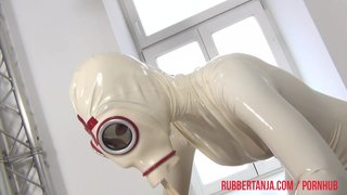 Naughty rubber doctor and patient
