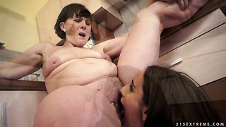 Teen kerry and margo t.'s are ready to spend hours licking each other's eager fuck hole non-stop