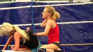 Naked fight of cute laura crystal and michelle moist