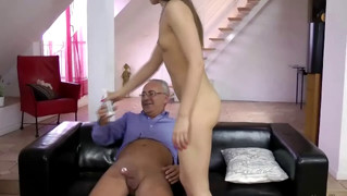 Young brit gets anal by an old man