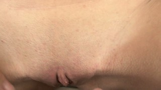 Splendid pov with shaved twat and thick prick gets really intensive here