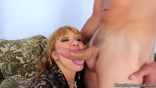 He can't resist ava devine's large breasts