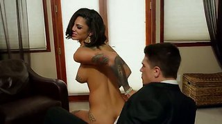 Horny tattooed chick bonnie rotten loves to feel bruce venture's long hard dick deep inside her wet snatch