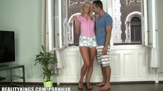 Reality kings - euro blond gets super wet before taking two cocks