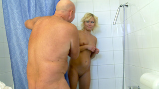 Arsch, Blond, Spermadusche, Double Penetration, Fuss-Fetish